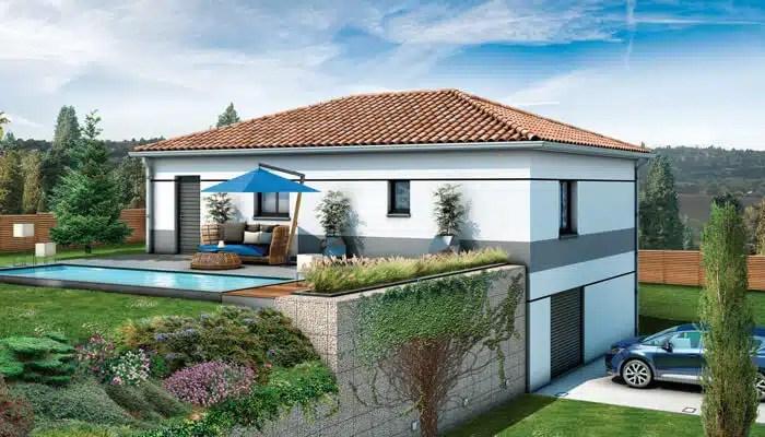 maison individuelle Glières - tuiles canal