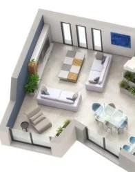 Maison moderne Lumio - salon/séjour