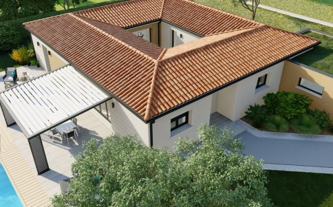 maison plain-pied ATRIA - vue drone