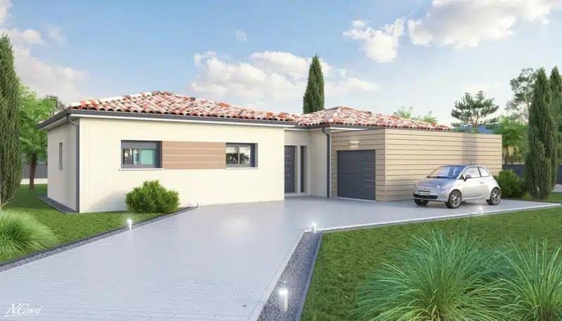 Maison moderne Emoji - garage à toit plat