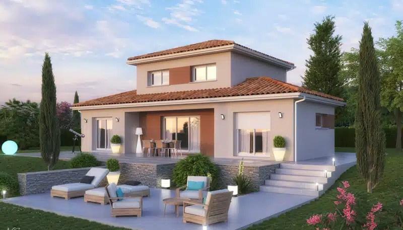 Maison moderne Lodge - plan maison