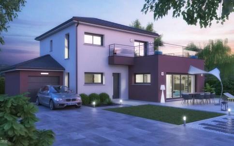 maison moderne VILLA - version nuit