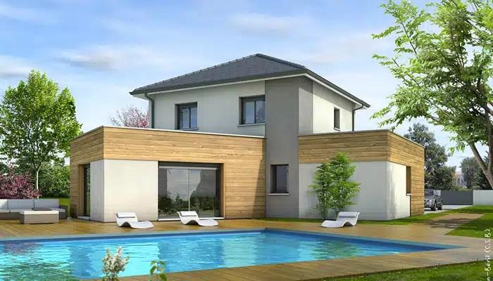 Plan maison moderne Cvennes  plan maison 3D