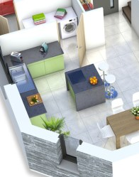 Plan maison 3D - Cuisine maison moderne Mont-Revard