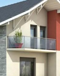 Maison moderne avec balcon