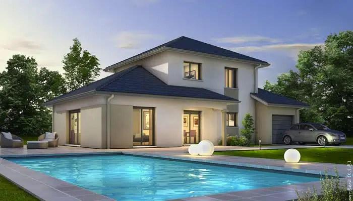 Plan maison moderne Semnoz  plan maison 3D