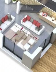 Maison moderne avec salon à double orientation