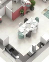 Maison familiale Lotus avec cuisine ouverte