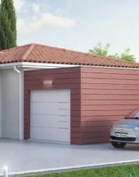 Maison de plain-pied EMOJI - Garage à toit plat
