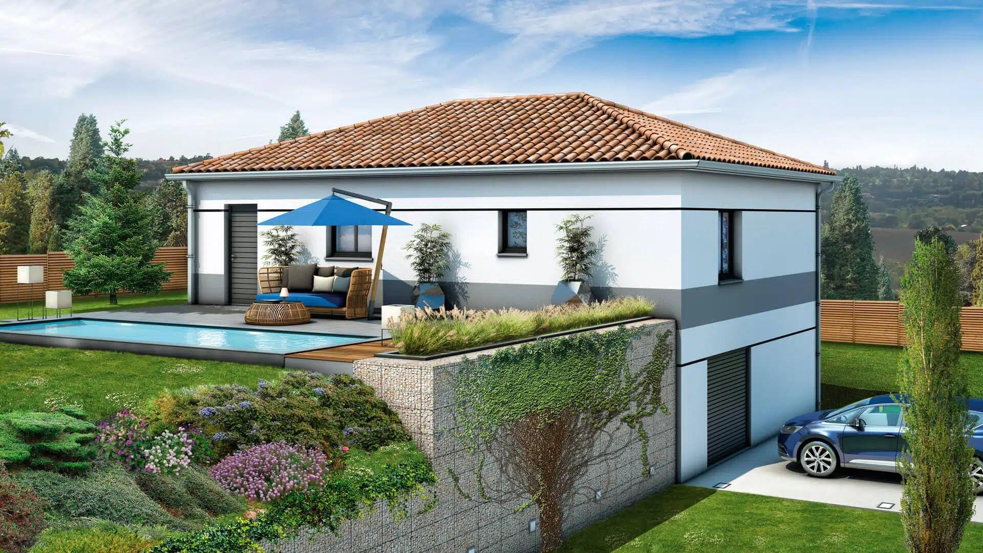 Plan maison individuelle sur sous-sol complet - modèle Glières