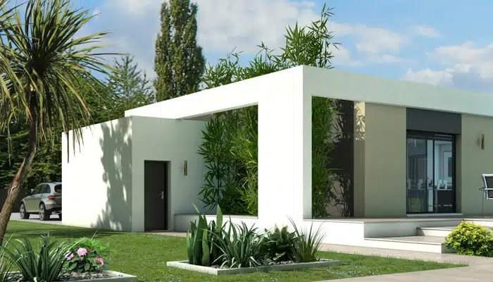 maison toit plat Jade : patio arboré