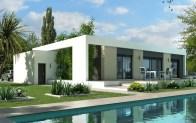 maison toit plat JADE - vue jardin
