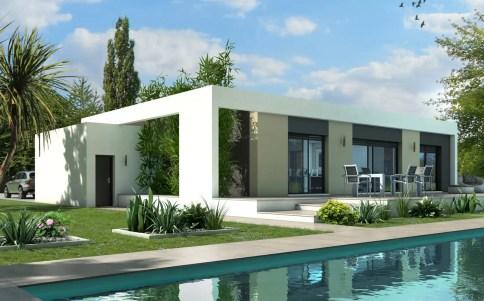 Extremement Maison plain pied : plan maison gratuit, plan maison 3D LK-36