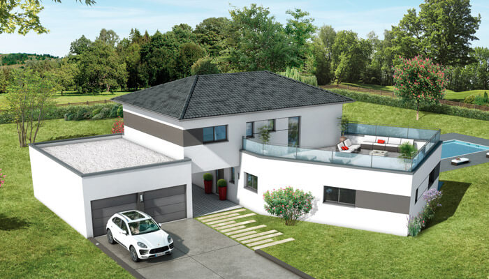 Maisons toit plat Ambre - plan maison