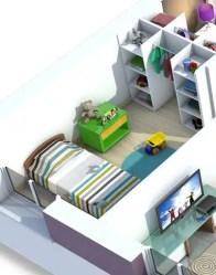 Plan maison 3D - maison toit palt