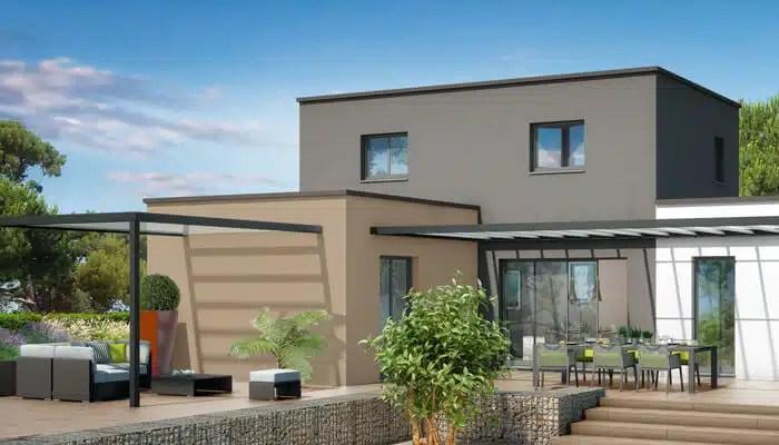 Maison toit plat Orchidée - plan maison gratuit