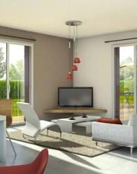 Maison à étage Belledonne - vue 3D Séjour