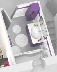 Plan maison 3D - salle de bain