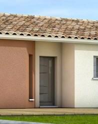 Maison individuelle avec porche rentrant