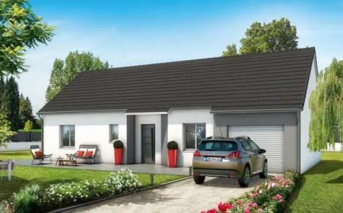 Plan maison 3D gratuit - maison plain pied Lila