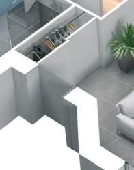 Plan 3D maison Lila - vue 3D entrée