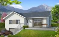 Plan maison en L Oisans - maison sur sous-sol
