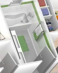 Plan maison 3D - vue salle de bain