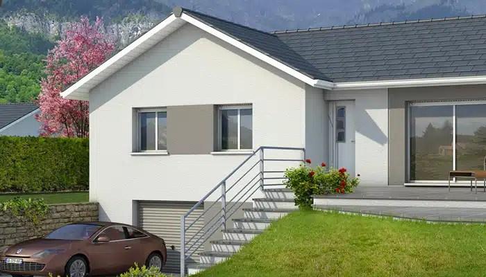 Maison en L sur sous-sol complet - plan maison Oisans