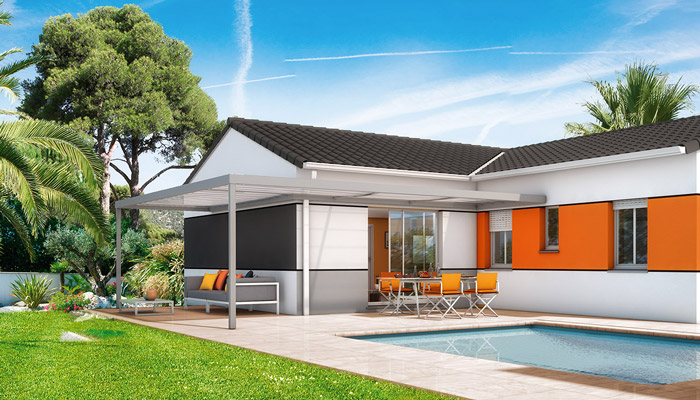 Maison plain pied Java - plan de maison en L gratuit