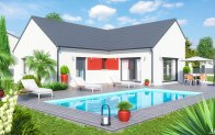 Maison plain-peid - vue jardin