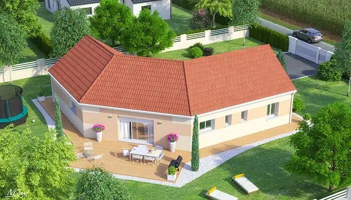 Maison moderne Iris - vue jardin
