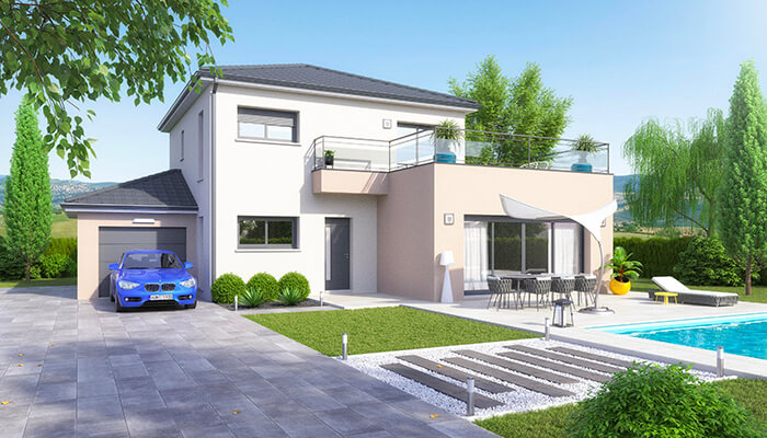 Plan maison gratuit - maison moderne Villa