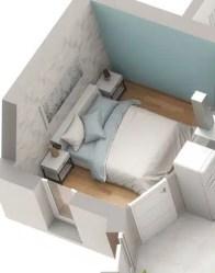 Plan maison 3D Optima - chambre lumineuse