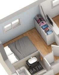 Plan maison EMOJI - chambre