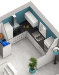 Plan maison Smart - cuisine semi-ouverte
