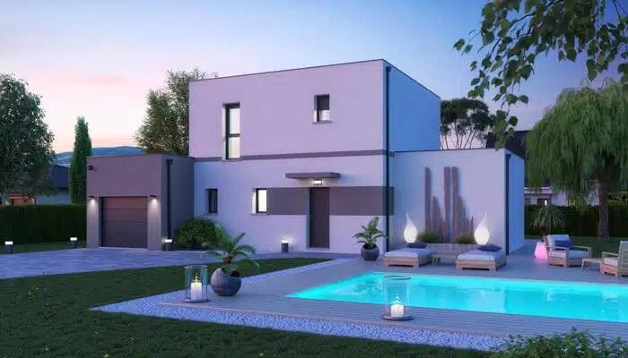 Plan maison toit plat Capucine
