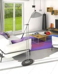 Maison moderne de plain-pied - salon lumineux