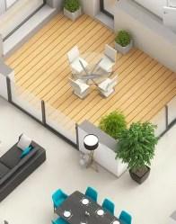 Maison plain-pied Atria - patio intérieur