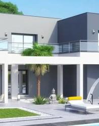 Maison contemporaine Dubaï - Ouverture végétale