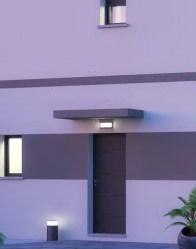 Marquise en béton - maison à toit plat Capucine