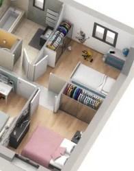 plan maison 3D : partie nuit
