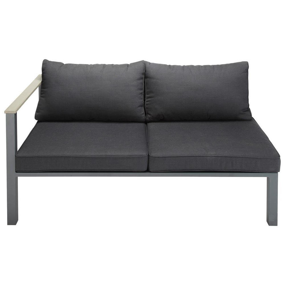 how to make armrest covers for sofas green vintage sofa 2 seater aluminium garden left corner section in ...