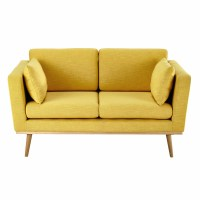 2 seater fabric sofa in yellow Timeo | Maisons du Monde