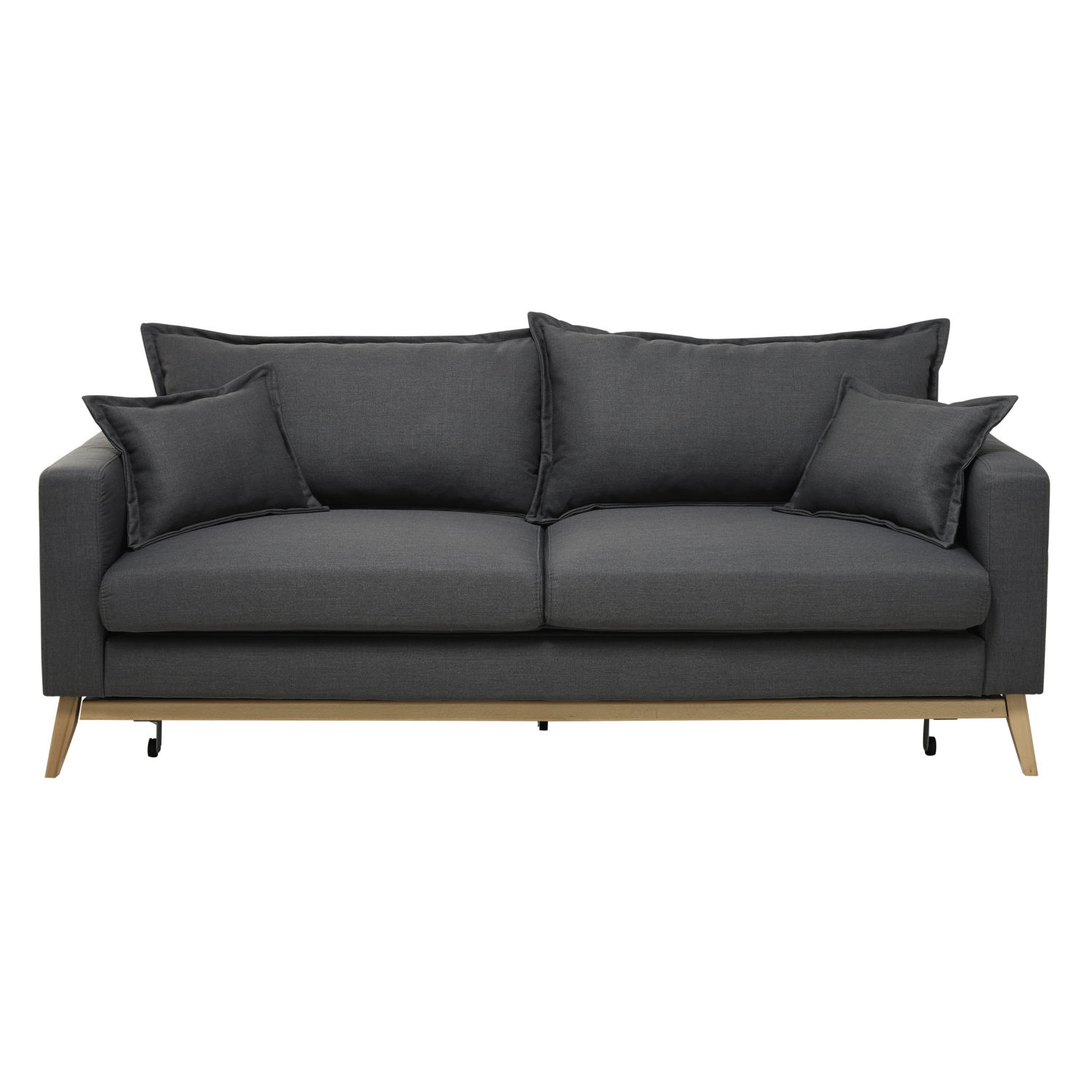 3 seater fabric sofa intex pull out dimensions bed in slate grey duke maisons du monde