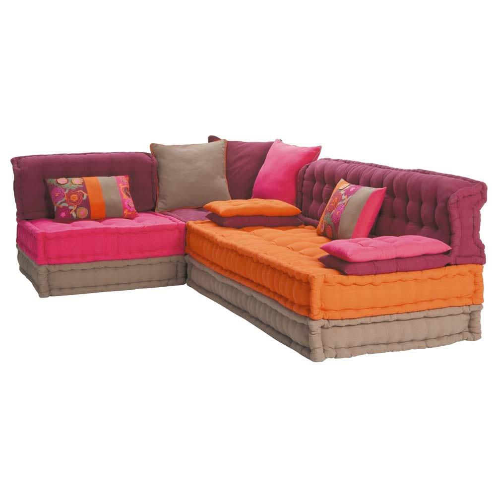 5 seater cotton corner day bed multicoloured Bolcho  Maisons du Monde