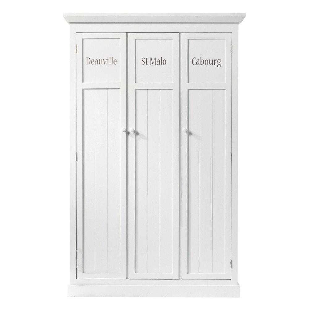 Armario de madera blanco An 125 cm Newport  Maisons du Monde