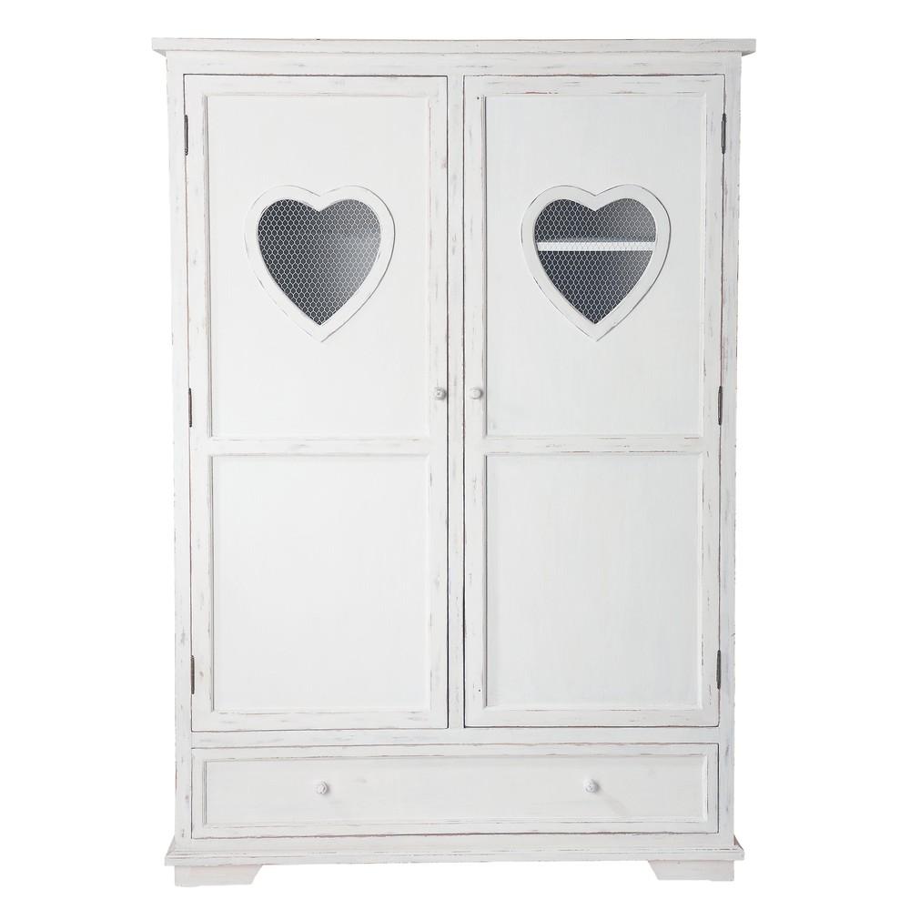Armario de madera blanco An 130 cm Valentine  Maisons du