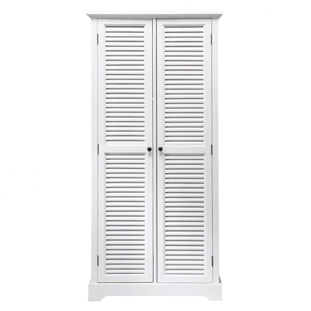 Armario de madera blanco An 86 cm Barbade  Maisons du Monde