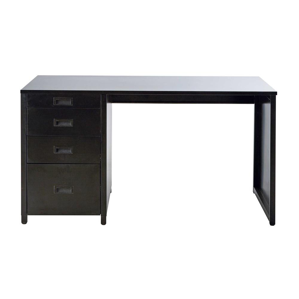 Black metal desk L 140 cm Loft  Maisons du Monde