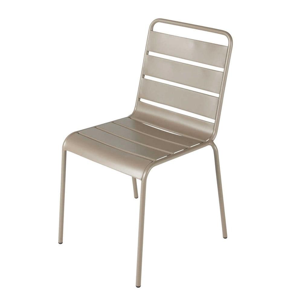 Chaise de jardin en mtal taupe Batignolles  Maisons du Monde